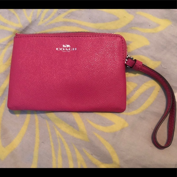 Coach Handbags - NWOT Hot Pink Coach ID Wristlet